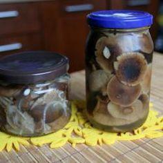 Opieńki marynowane @ allrecipes.pl Allrecipes, Starters, Mason Jars, Bbq, Stuffed Mushrooms, Canning, Decor, Garden, Gourmet