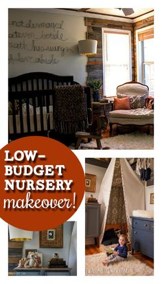 Love this sophisticated, low-budget boy nursery makeover!