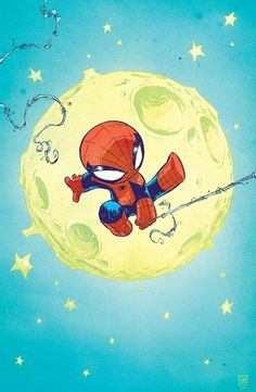 """Spidey Baby"" by Skottie Young"