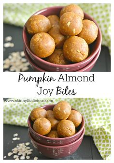 Pumpkin Almond Joy Bites {GF, Vegan, Low Cal}