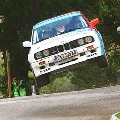 Old Beemers can still fly high! We're massive fans of the E30 M3, especially in these iconic colours