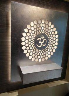 17 Ideas open door design interiors for 2019 Pooja Room Door Design, Door Design Interior, Foyer Design, Ceiling Design, Home Interior, Design Interiors, Glass Wall Design, Temple Room, Temple Design For Home