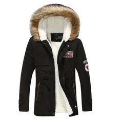 Hooded winter coat