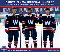 New Blue Washington Capitals Third Jersey Released – SportsLogos.Net News New York Islanders, New York Mets, Alexander Ovechkin, Nhl Washington Capitals, Nhl Highlights, Nhl Season, Uniform Design, Tampa Bay Rays, Kansas City Royals