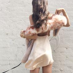 Zillah slipdress in blush