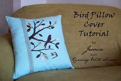 Bird Pillow Cover Tutorial