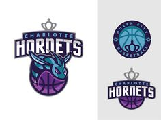 "Winning design for the Charlotte Hornets Community Contest by Eren G.: ""Eren G., a Turkish designer, did a great job at modernizing the classic Hornet, which shows great ferocity guarding the basketball. The logo is very NBA friendly and the alternate logos, which pay homage to Charlotte's nickname ""Queen City,"" could be used in all forms of media and merchandise."""