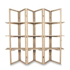 Concertina Style Display Shelf by Citta Design   Citta Design - brilliant idea!