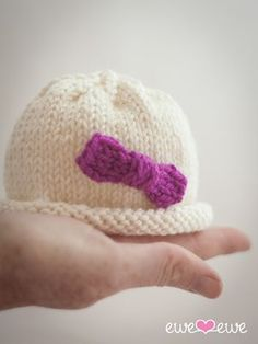 Hello Preemie Hat {free knitting pattern} — Ewe Ewe Yarns