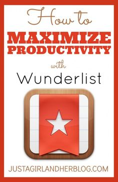 Send your productivity through the roof with Wunderlist! Broken down into simple steps that anyone can follow! | Just a Girl and Her Blog
