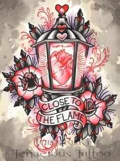 Lantern tattoo, absolutely love this. | Tattoos | Pinterest ...