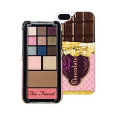 Too Faced Candy Bar makeup & iPhone 5 case New without box Too Faced Candy bar makeup palette & iPhone 5 case. All the descriptions of what's included in this palette is pictured above. Too Faced Makeup Eyeshadow Palette Too Faced, Makeup Palette, Too Faced Cosmetics, Makeup Cosmetics, Mascara, Chocolate Bar Palette, Foundation, Makeup Sale, Perfume