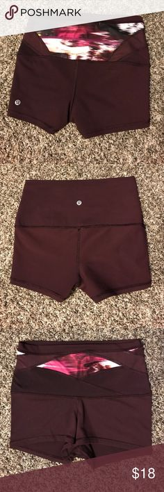 """Lululemon Wunder Short 2"""" Very cute running or yoga spandex. 2"""" inseam. A little pilling but otherwise in good shape. lululemon athletica Shorts"""