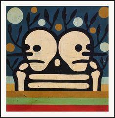 Our Lives Were A Lie by Mike Egan Halloween Printable, Indie Art, Affordable Art, Artsy Fartsy, Skulls, Mystic, Framed Art, Bones, Creepy