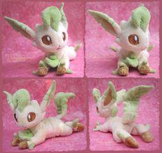 Leafeon - handmade plushie by Piquipauparro.deviantart.com on @DeviantArt