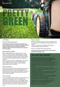 ~ Pretty green ~ Top tips to become a lawn ranger this spring... #locallife #Farnham #Surrey #gardening #lawn #green #inspiration