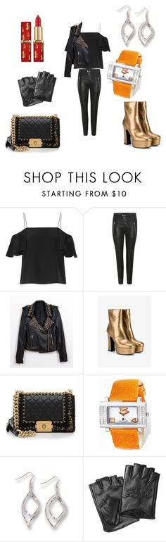 """""""love that leather"""" by shannongarner ❤ liked on Polyvore featuring Fendi, Isabel Marant, Yves Saint Laurent, Chanel, Charles Hubert, Kim Rogers and Karl Lagerfeld"""