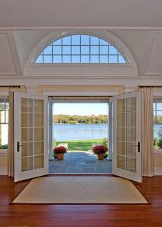 French doors in front.