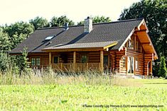 Located in British Columbia, Lake Country Log Homes builds custom handcrafted log homes from Western Red (West Coast Cedar) and Douglas Fir. Log Cabin Homes, Cabins, Cedar Log, Western Red Cedar, Douglas Fir, Building A House, Floor Plans, Exterior, Country
