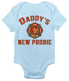 Personalized red glitter maltese cross firefighters girl daughter baby bodysuit daddys new probie firefighter negle Choice Image