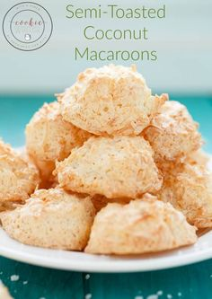 Easy, simple, semi toasted coconut macaroons that will use up all those unused egg whites from previous baking adventures! Best Dessert Recipes, Fun Desserts, Cookie Recipes, Delicious Desserts, Snack Recipes, Yummy Food, Yummy Yummy, Yummy Treats, Delish