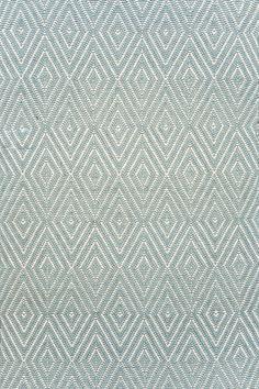 Diamond Light Blue & Ivory Indoor/Outdoor Area Rug