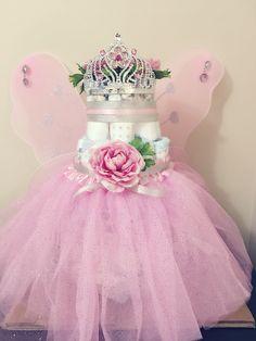 Fairy Diaper Cake for Baby Girl