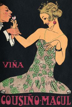 Cartel Comercial Viña Cousiño Macul Año: 1930 Autor: Desconocido Lugar: Santiago Archivo: Diseño Nacional