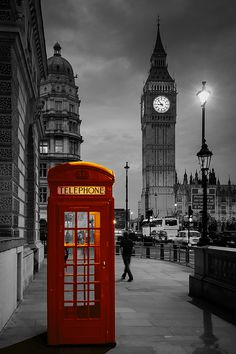 Telephone by Andy Tomasello / Big Ben in London, England. London England, England Uk, Oxford England, Cornwall England, Yorkshire England, Yorkshire Dales, Places Around The World, Oh The Places You'll Go, Places To Travel