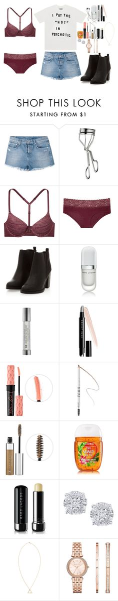 """""""Sin título #691"""" by hpf1102 ❤ liked on Polyvore featuring Ksubi, Lancôme, Victoria's Secret, Marc Jacobs, Urban Decay, Benefit, MILK MAKEUP, Anastasia, TIKI and Effy Jewelry"""