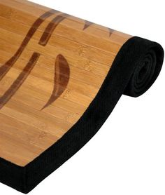 Top quality japanese style bamboo rugs, 3 beautiful art print designs, 3 classic convenient sizes Durable kiln dried bamboo slat, wide black canvas finished edges, indoor use only Slip resistant backing, no need to buy rubber backing, indoor use only