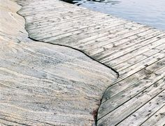 Rocks, wood, water, by Wenche Selmer     (1920–98), one of thevery few women who gained a position among renowned Norwegian architects in the 20th century.