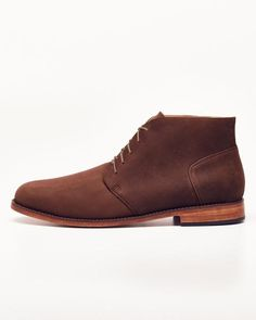 DESCRIPTION    The Emilio Chukka is inspired by the traditional men's chukka boot but our twist is in the sleek leather sole. Emilio's versatility will take you from the boardroom to the bar, and its matching comfort will make for wear that lasts days on end. Available in a variety of classic neutrals, the Emilio looks just as great with cuffed jeans and your favorite tee as it does with chinos and a sports coat.   PRODUCT DETAILS    Full-length, soft leather insole with built-in arch…