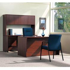 Desk and Credenza Set #officedesign