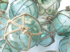 Vintage Floats Set of 5 Fishing Net Japanese by OneFairfaxRoad