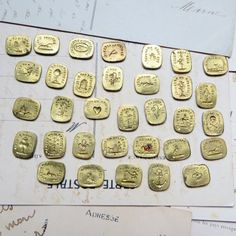 Antique French Wax Seal Stamp Collection French by rosamystica