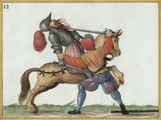 A way for the footman to throw the rider off the saddle Medieval Art, Renaissance Art, Historical European Martial Arts, Landsknecht, Sword Fight, Knight Art, Character Poses, Modern History, 16th Century