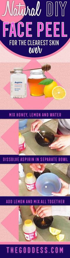 Natural DIY Face Peel for The Clearest Skin Ever! - A hot new diy face peel recipe with step by step tutorial. Try this mask for acne, black heads, and for dead skin. One of our favorite home remedies - https://www.thegoddess.com/diy-face-peel-recipe/