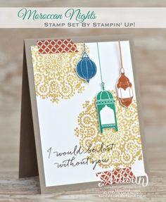 nice people STAMP!: Moroccan Nights Card: Stampin' Up! Artisan Blog Hop