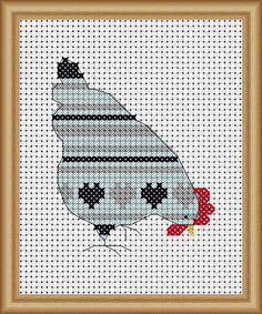 This is a pattern for a chicken cross stitch that I did. I changed the colours to red white n blue. from www.lucieheaton.com