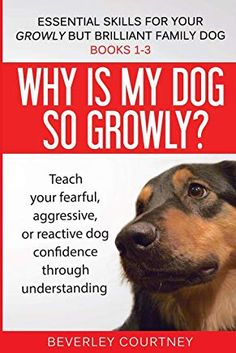 Read Book Why is my dog so growly?: Book 1 Teach your fearful, aggressive, or reactive dog confidence through understanding (Essential Skills for your Growly but Brilliant Family Dog) Author Beverley Courtney, Reactive Dog, Dog Training Books, Puppy Obedience Training, Dog Books, Aggressive Dog, What To Read, Family Dogs, Free Reading, Book Photography
