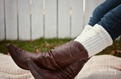 Cute! Trendy Cable Knit Leg Warmers by Daisy and June Shoppe @GroopDealz