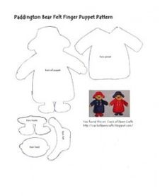 Free Paddington Bear Puppet Pattern