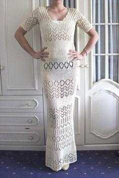 Ivory - cream long wedding dress (Custom made)