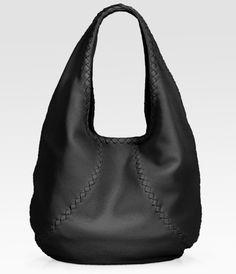 Bottega Veneta Black Cervo Large Leather Hobo Bag….lecker!