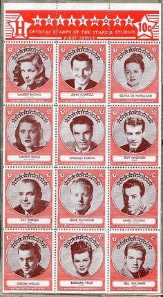 Movie Star Stamps