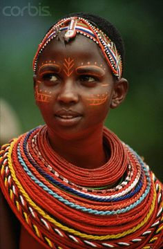 Africa | Maasai woman | Photographer ?, unfortunately I cannot find this image within the Corbis database