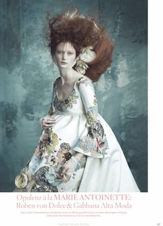 Hair idea and hair accessories Vogue Germany April 2014 #rococco return