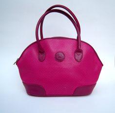 Vintage 80's fuschia pink handbag // Liz Claiborne by dahlilafound, $34.00