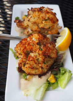 Crab cakes at River Station - Poughkeepsie, NY